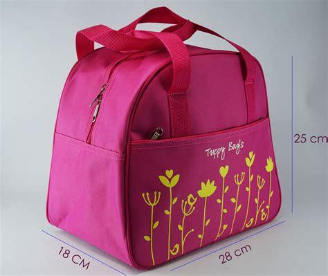 Tas Ransel Hijau Kuning tuppy bag tas cantik untuk bawa keperluan produk tupperware