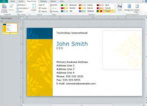 business card publisher creating business cards in microsoft publisher