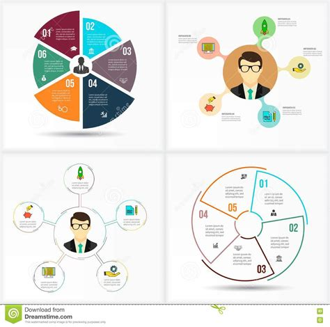 visualization diagram set infographic template data visualization can be used