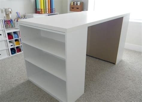 tabletop bookshelves diy craft table 25 ikea table top and two 15