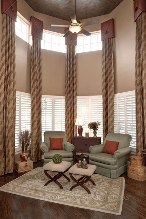 Shade Curtains Decorating 17 Best Images About Two Story Drapery Ideas On High Ceilings Window