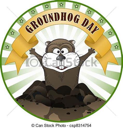 groundhog day logo eps vector of groundhog day vector illustration of a
