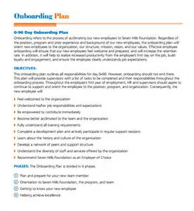 hr onboarding process template sle onboarding plan template 7 free documents in pdf