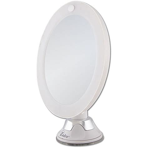 lighted makeup mirror bed bath and beyond zadro 10x cordless led lighted wall mount mirror bed