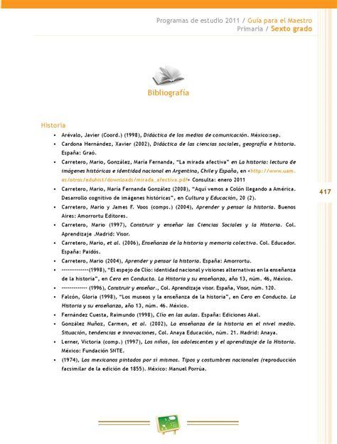 programa de estudios 2011 primaria sexto grado pdfs gu 237 a para el maestro educaci 243 n b 225 sica primaria sexto