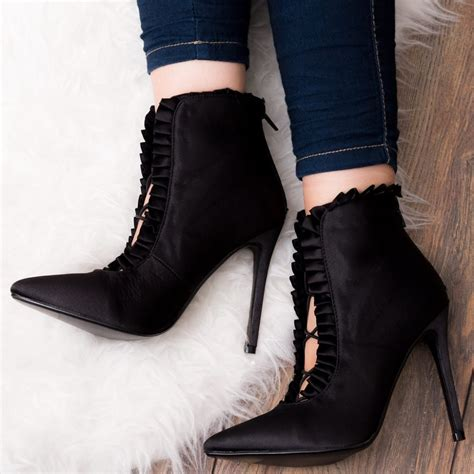 nissi black ankle boots shoes from spylovebuy
