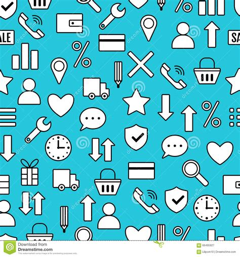 seamless pattern with shopping icons seamless pattern with icons of e commerce shopping
