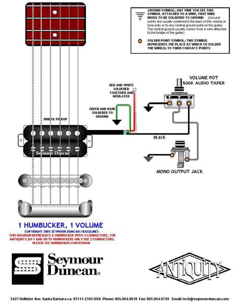 tooroberts guitar section gt schematic gt one humbucker