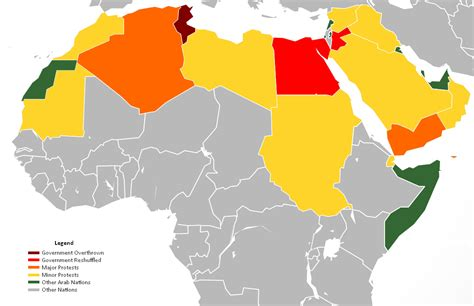 map of arab countries file arab world protests map as of 2 17 11 png wikimedia