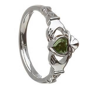 may emerald birthstone claddagh ring celtic by design