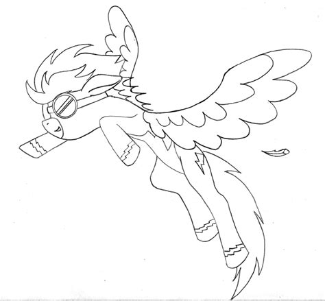 my little pony coloring pages spitfire feather color page coloring home