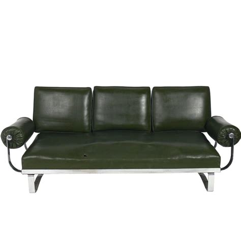 Deco Style Sofas by Deco Chrome Sofa By Mckay For Sale At 1stdibs