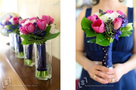 nicolarobyn events wedding colors navy blue and pink