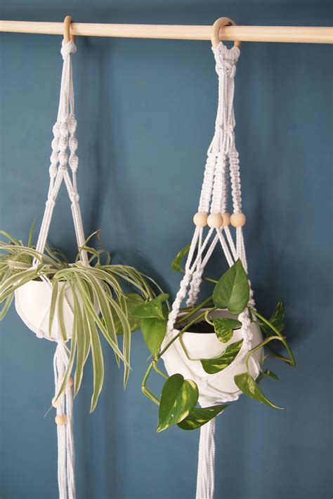 macrame l macram 233 hanging planter l 233 tablisienne workshop