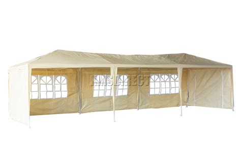 marquee awning waterproof beige 3m x 9m outdoor garden gazebo party tent