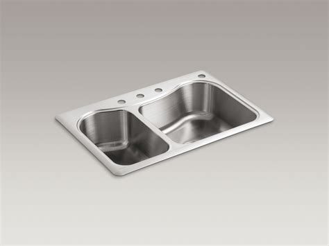 kohler staccato stainless steel kitchen sink standard plumbing supply product kohler k 3361 4 na