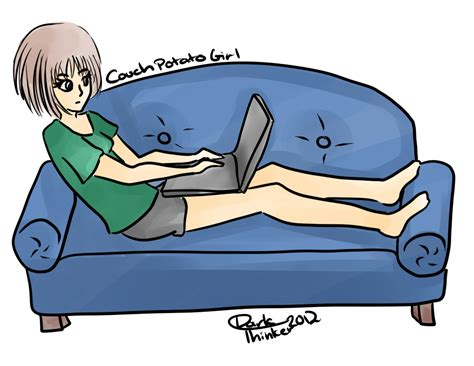 couch potato cartoon couch potato sketch by moonmistfalls on deviantart