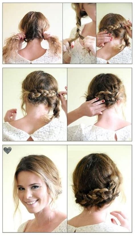 diy updo hairstyles pinterest diy easy braided updo pictures photos and images for
