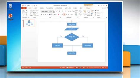 how to make flowchart in powerpoint how to make a flow chart in powerpoint 2013