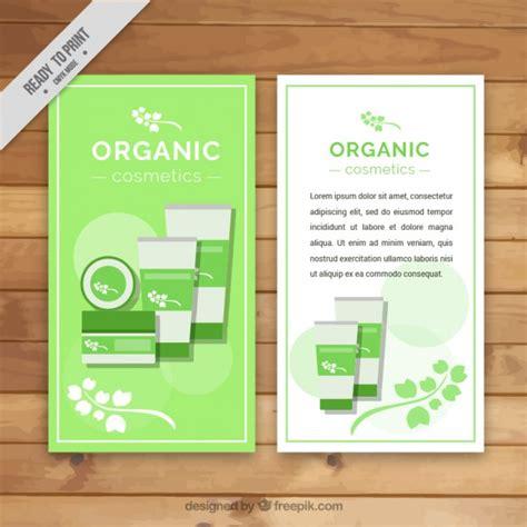 design banner kosmetik bio kosmetik banner flat download der kostenlosen vektor