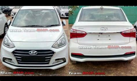 hyundai new uing cars in india 2017 hyundai xcent facelift sans camouflage spied ahead