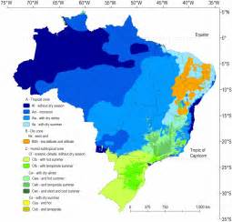 climate map of climate classification for brazil according to the k 246 ppen