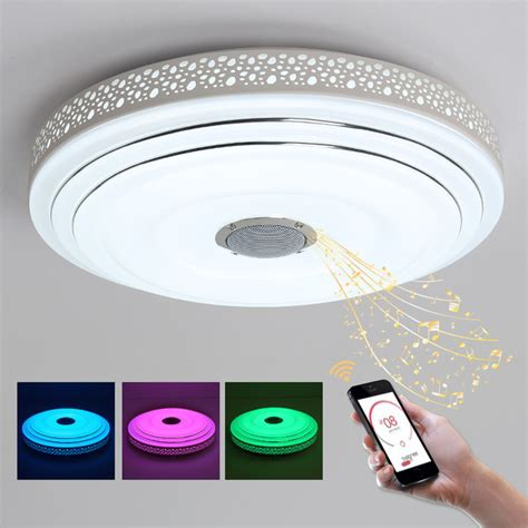 How To Change Ceiling Light Fixture Aliexpress Buy Intelligence Color Changing Ceiling Light Fixture Led Ring Lustre Light