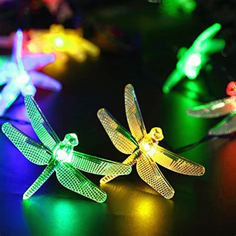 Dragonfly String Lights Outdoor Solar Outdoor String Lights By Apexpower 8 Modes 20led Dragonfly Waterproof Ebay