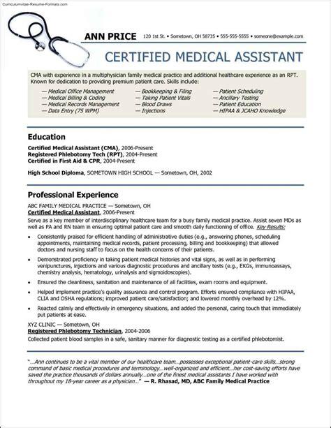 free healthcare resume templates free sles exles