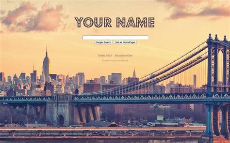 google themes new york nyc bridge google theme