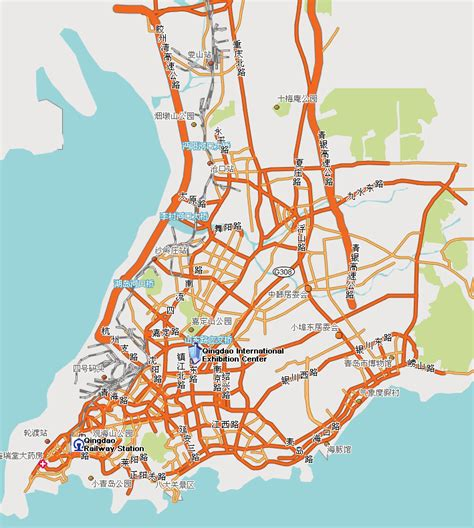 qingdao map map of qingdao hotels visible on the map map