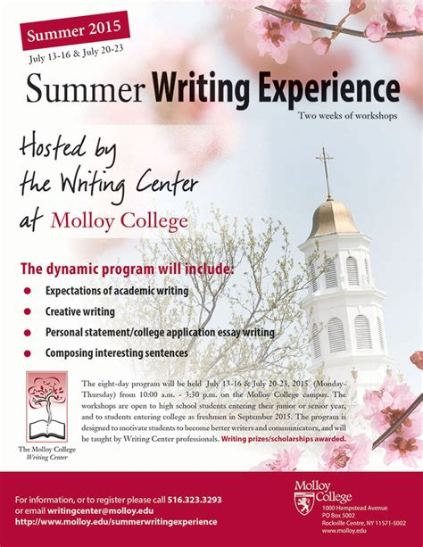 Molloy College Application Essay Question Molloy College Summer Writing Experience