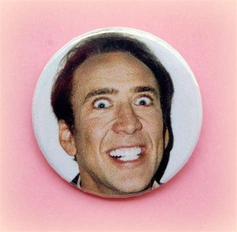 Or Creepy Smile Nicolas Cage Creepy Smile Button Badge Or Magnet 1 5 Inch