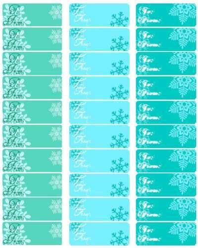 printable snowflake tags gift tags snowflakes and free printable on pinterest