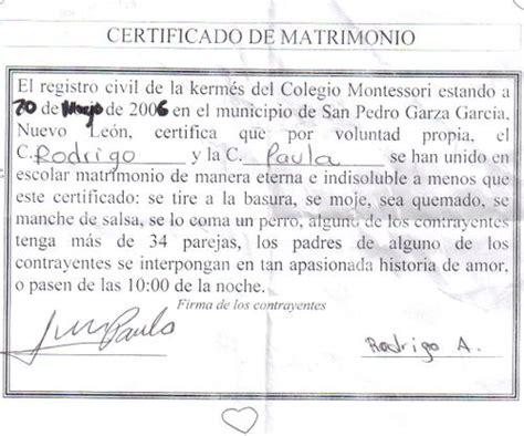 certificado de matrimonio para kermes acta de matrimonio para kermes imagui