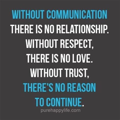 Memes On Trust - without communication there is no relationship without