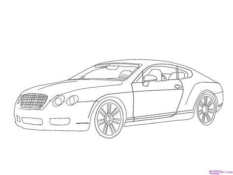 car drawing how to draw a bentley step by step cars draw cars