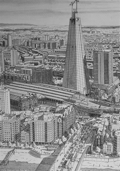 trip down memory line artist draws incredibly detailed pictures of famous cities entirely from