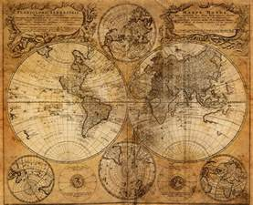 First World Map by Old Navigation Maps Images