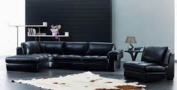 modern leather living room furniture furnishing a dark living room black leather furniture living room decorating ideas image 13