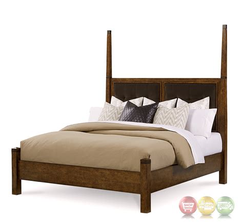 poster bed echo park birch king poster bed with stipple stained finish