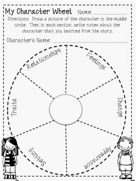 biography book report wheel free character wheel for reading