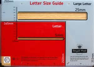 Letter Size Template Royal Mail Post Office Large Letter Size Guide Template