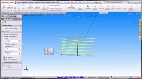 solidworks tutorial helix solidworks deutsch tutorial grundlagen helix und spirale