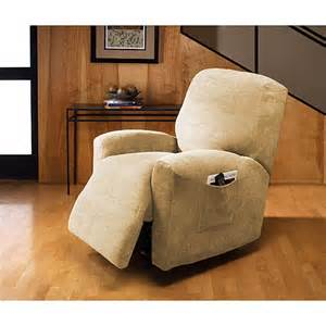 Walmart Recliner Slipcovers Plush Recliner Slipcover Cream Decor Walmart Com