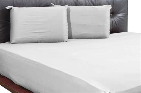 800tc solid fitted sheet with 2 pillow cases in cal king