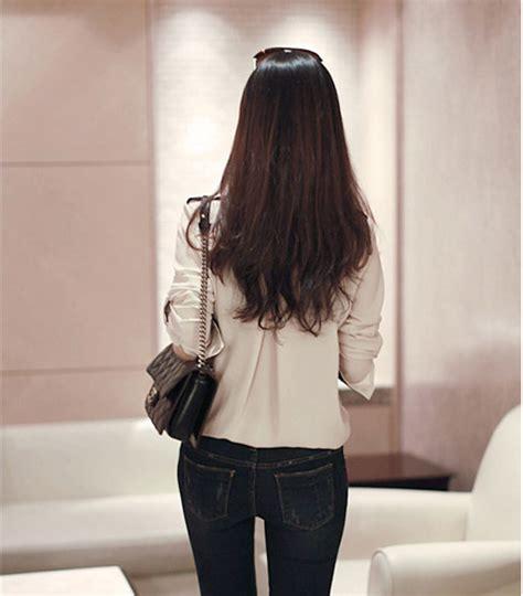 Kemeja Sifon baju kemeja wanita sifon coklat model terbaru jual