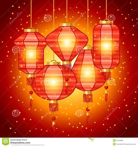 new year background design new year background design with lanterns stock