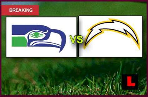 chargers score tonight seahawks vs chargers 2013 debuts nfl channel thursday