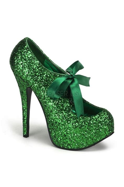 christmas green mens dress shoes green glitter bow front heels heel shoes store sales stiletto heel shoes high